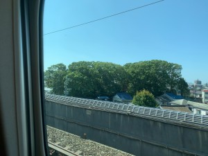 新幹線、今静岡県に入りました